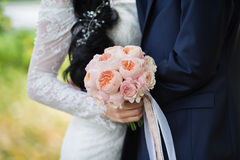 Rich wedding bouquet of Peony roses Royalty Free Stock Image