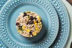 Rich whore`s rice. Rice with vegetables.  Royalty Free Stock Image