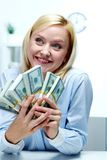 Rich woman Stock Image