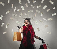 Rich woman royalty free stock photos