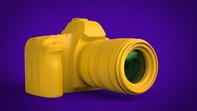 Rich yellow abstract modern photo camera vector illustration