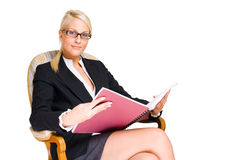 Rich young busness woman. Stock Photo