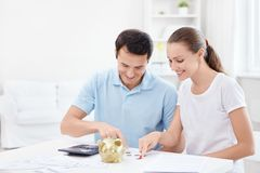 The rich young couple Stock Photo