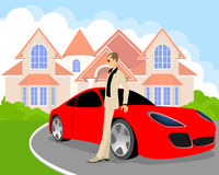 Rich young man. Vector illustration of a rich young man Stock Photography