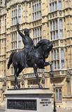 Richard το άγαλμα Lionheart στο Λονδίνο Στοκ φωτογραφίες με δικαίωμα ελεύθερης χρήσης