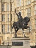 Richard το άγαλμα Lionheart Στοκ Φωτογραφίες