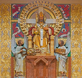 Βιέννη - Χριστός το άγαλμα βασιλιάδων από τον αρχιτέκτονα Richard Ιορδανία και καλλιτέχνης Ludwig Schadler από το έτος 1933 στην  Στοκ εικόνες με δικαίωμα ελεύθερης χρήσης