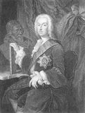Richard Boyle. 3rd Earl of Burlington (1694-1753) on engraving from the 1800s. 'The Apollo of the Arts'. Engraved by H.T.Mote and published by the London Stock Photography