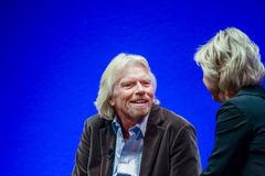 Richard Branson grundare och president av den jungfruliga gruppen Royaltyfria Foton