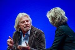 Richard Branson grundare och president av den jungfruliga gruppen Royaltyfri Bild
