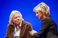 Richard Branson grundare och president av den jungfruliga gruppen Royaltyfri Fotografi