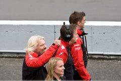 Richard Branson Montreal am großartigen prix lizenzfreies stockbild