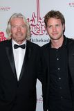Richard Branson, Sam Branson. Richard Branson and son Sam Branson  at the 5th Annual Rock The Kasbah Fundraising Gala, Boulevard 3, Hollywood, CA 11-16-11 Royalty Free Stock Photography