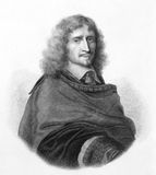 Richard Browne. (1610-1669) on engraving from the 1800s. Major-General in the English Parliamentary army during the English Civil War. Engraved by P.Audinel Stock Images