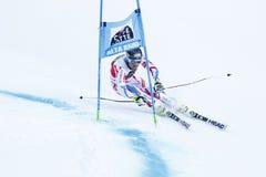 RICHARD Cyprien in Audi Fis Alpine Skiing World-Kop Stock Afbeelding