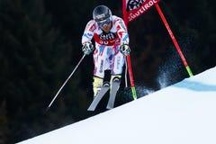 RICHARD Cyprien in Audi Fis Alpine Skiing World-Kop Men's Gian stock afbeelding