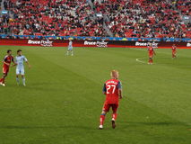Richard Eckersley with Toronto FC. After leaving Burnley F.C. in England, Richard Eckersley now plays for Toronto FC and was seen here against Sporting Kansas Stock Image