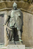 Richard fearless. The Dukes of Normandy on the pedestal of the statue of William the Conqueror in Falaise Normandy Stock Images