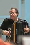 Richard Galliano op de repetitie Royalty-vrije Stock Fotografie