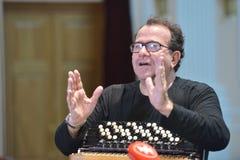 Richard Galliano op de repetitie Stock Fotografie