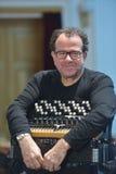 Richard Galliano op de repetitie Royalty-vrije Stock Afbeelding