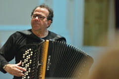 Richard Galliano on the rehearsal Royalty Free Stock Image