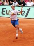 Richard Gasquet della Francia a Roland Garros fotografia stock libera da diritti