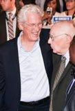 Richard Gere en Homer George Gere bij de première van ` Drie Christs ` bij TIFF17 stock foto's