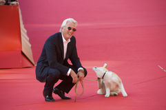 Richard Gere and Hachiko Royalty Free Stock Images