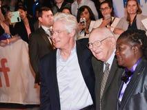 Richard Gerencia e seu paizinho na premier do ` de Christs do ` três em TIFF17 imagem de stock royalty free