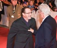 Richard Gerencia e Stephen Root na premier do ` de Christs do ` três em TIFF17 fotografia de stock royalty free