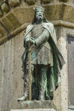 Richard the Good. The Dukes of Normandy on the pedestal of the statue of William the Conqueror in Falaise Normandy Royalty Free Stock Images