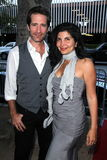 Richard Gunn, Jenna Mattison à la première mondiale de   Image libre de droits