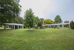 Richard H Fulton Arbor. Memorial at Centennial park in Nashville, Tennessee stock photos