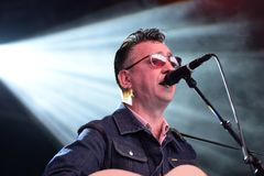 Richard Hawley band perform in concert at Primavera Sound 2016 Stock Images