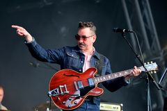 Richard Hawley band perform in concert at Primavera Sound 2016 Royalty Free Stock Image