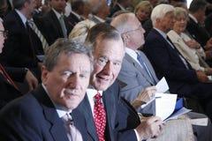 Richard Holbrooke, George Bush sen. Stock Image
