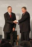 Richard Holbrooke, George Bush sen. Stock Photo