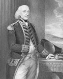 Richard Howe. 1st Earl Howe (1726-1799) on engraving from the 1800s. British naval officer, notable for his service during the American War of Independence and Royalty Free Stock Photography