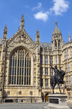 Richard the Lionheart and the Houses of Parliament Stock Images