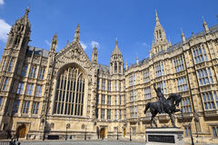 Richard the Lionheart and the Houses of Parliament Royalty Free Stock Photography