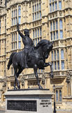 Richard the Lionheart Statue in London Royalty Free Stock Photos