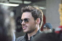 Richard Madden. New york city, new york march 9 2015: fans wait anxiously for richard madden, so they can have their pictures taken with him, and so he can sign stock image