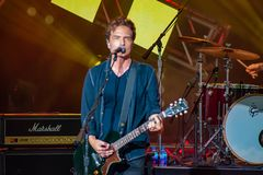 Richard Marx singing This I Promise You in Garden Rock Festival at Epcot in Walt Disney World Resort  8. Orlando, Florida. May 14, 2019. Richard Marx singing royalty free stock photos