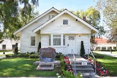 Richard Nixon Birthplace. YORBA LINDA, CALIFORNIA - FEBRUARY 24, 2017: Richard Nixon Birthplace. The home is on the grounds of the Presidential Library and is Stock Photo