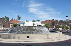 Richard Nixon Library Fountain. YORBA LINDA, CALIFORNIA - FEBRUARY 24, 2017: Fountain at the Richard Nixon Library and Birthplace. The presidential library and Stock Photos