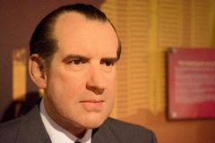 Richard Nixon Wax Figure. Richard Milhous Nixon was the 37th President of the United States, serving from 1969 to 1974. Richard Nixon wax figure is located in Royalty Free Stock Photo