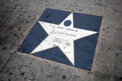 Richard Strauss walk of fame star in Vienna Royalty Free Stock Photography