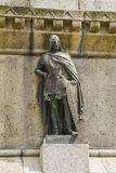 Richard three of Normandy. Statue on the pedestal of the statue of the conqueror in Falaise Stock Photo