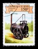 Richard Trevithicks Lokomotive, 1800, dampfgetriebenes Fahrzeugse Stockbilder